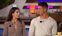 """<p><strong>Relationship status: This never actually got off the ground did it?</strong></p><p>These guys were 'together' for about one minute after they left the show. Then Adam said on Twitter that he was """"100 percent single"""", adding: """"It's like when you're eating a kebab after a night out and the first few bites taste good but then u realise that it really isn't nice at all!""""</p><p>Wow.</p>"""