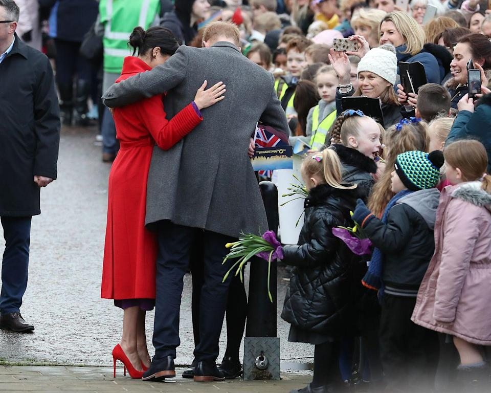 <p>The couple has a PDA-filled visit to Birkenhead. </p>