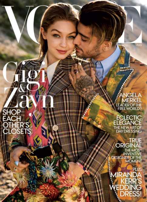 <p>The duo solidified their status as the most satorially-savvy couple in Hollywood with this super stylish <em>Vogue</em> cover. Wearing an assortment of prints and styles – Gigi in a fairly androgynous look for the 'gender-bending' shoot – the 20-somethings looked preened to perfection for the magazine's August 2017 cover. </p>