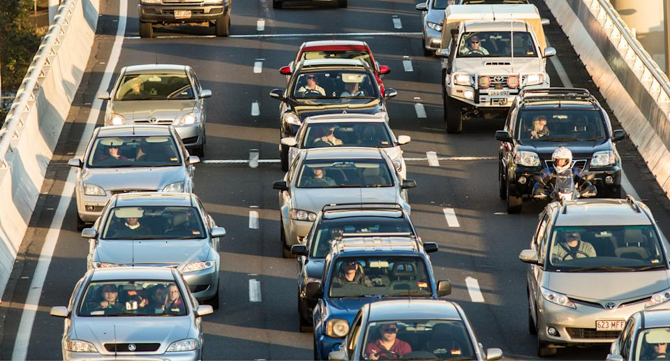 Traffic on a busy highway somewhere in Australia.