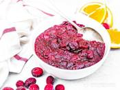 "<p>Cranberry sauce is typically like all sugar—yes there are antioxidants from the berries, but the sugar and carb count in a Thanksgiving cranberry sauce is way too high for a keto lifestyle. This one from <a href=""https://ketodietapp.com/Blog/lchf/low-carb-spiced-orange-cranberry-sauce"" rel=""nofollow noopener"" target=""_blank"" data-ylk=""slk:Keto Diet App"" class=""link rapid-noclick-resp"">Keto Diet App</a> still has the acidity from oranges, the kick from cloves and cinnamon, and the sweetness from the berries to satisfy the craving without wrecking your diet.</p>"