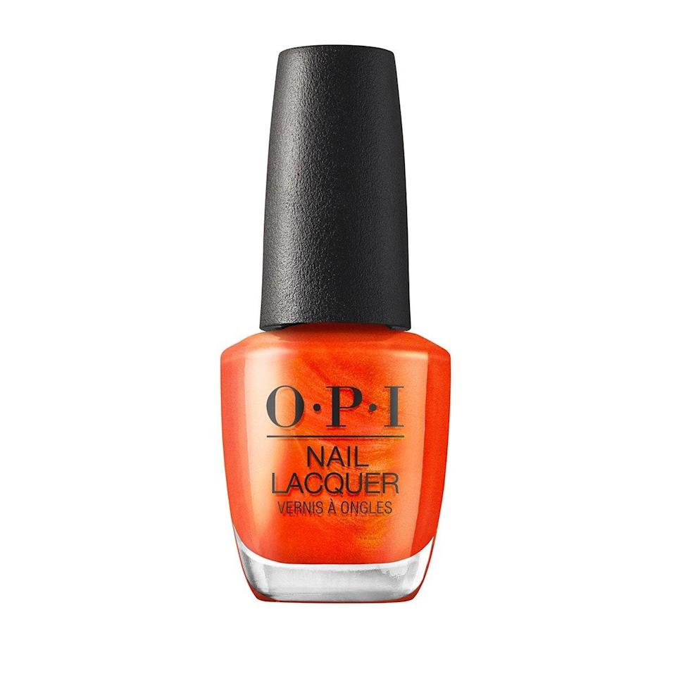 """I usually opt for a nude or red shade when I'm doing a DIY mani, but the new Malibu collection from OPI caught my attention with a range of colors that bring the heat. PCH Love Song is a fiery red-orange, making it the perfect polish for hot vaxxed summer, and I only need two coats to give my nails a vibrant pop of color that lasts for up to a week. <em>—Michella Oré, beauty assistant</em> $9, Walmart. <a href=""""https://www.walmart.com/ip/OPI-Nail-Lacquer-Polish-Malibu-Summer-2021-PCH-Love-Song-0-5-oz-NLN83/591497556"""" rel=""""nofollow noopener"""" target=""""_blank"""" data-ylk=""""slk:Get it now!"""" class=""""link rapid-noclick-resp"""">Get it now!</a>"""