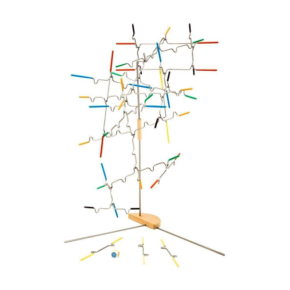 """<p><strong>Melissa and Doug </strong></p><p>amazon.com</p><p><strong>$19.99</strong></p><p><a href=""""https://www.amazon.com/dp/B007EA4UBY?tag=syn-yahoo-20&ascsubtag=%5Bartid%7C2089.g.985%5Bsrc%7Cyahoo-us"""" rel=""""nofollow noopener"""" target=""""_blank"""" data-ylk=""""slk:Shop Now"""" class=""""link rapid-noclick-resp"""">Shop Now</a></p><p>This game requires a ton of patience and hand-eye coordination. Players (up to four) take turns building with the 24 game rods. One wrong move and it could all come crashing down.</p>"""