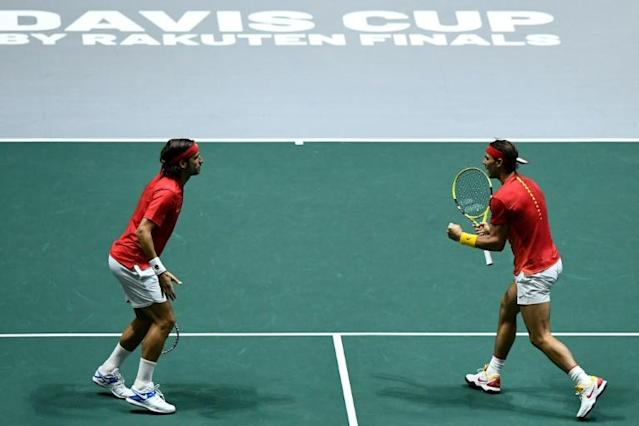 Nadal and Lopez sent Spain into the Davis Cup final (AFP Photo/OSCAR DEL POZO)