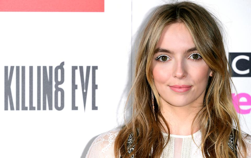 Jodie Comer attending the Killing Eve Season 2 photocall held at Curzon Soho, London.