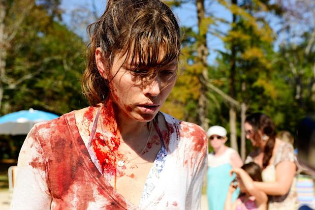 Jessica Biel in <em>The Sinner</em>. (Credit: Peter Kramer/USA Network)