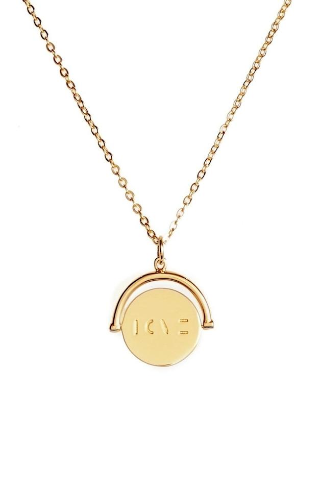 """<p>Jewelry is <em>always</em> a good idea — especially when you can find high quality pieces like this one that won't hurt your wallet.</p><p><em>Love Love Code Charm Necklace, $68. <a rel=""""nofollow"""" href=""""http://shop.nordstrom.com/s/lulu-dk-love-love-code-charm-necklace/4471356?fashioncolor=LOVE%2F%20GOL&mbid=synd_yahooentertainment&origin=category-personalizedsort"""">nordstrom.com</a></em></p>"""