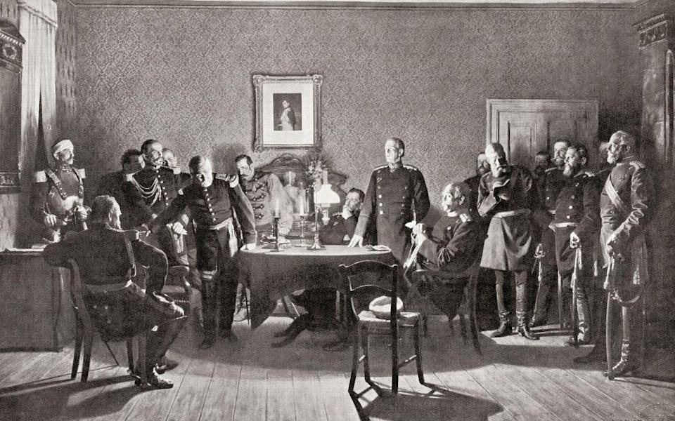 The surrender of Napoleon III to the Prussians after the Battle of Sedan - Getty