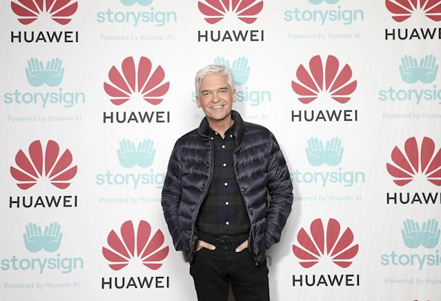 Phillip Schofield attends Winterland, London for the launch of Huawei's StorySign App with the British Deaf Association in London (Tristan Fewings/Getty Images for Huawei)