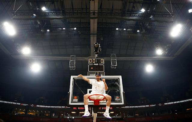 Basketball - Euroleague Final Four Final - Real Madrid vs Fenerbahce Dogus Istanbul - Stark Arena, Belgrade, Serbia - May 20, 2018 Real Madrid's Facundo Campazzo celebrates after the match REUTERS/Alkis Konstantinidis