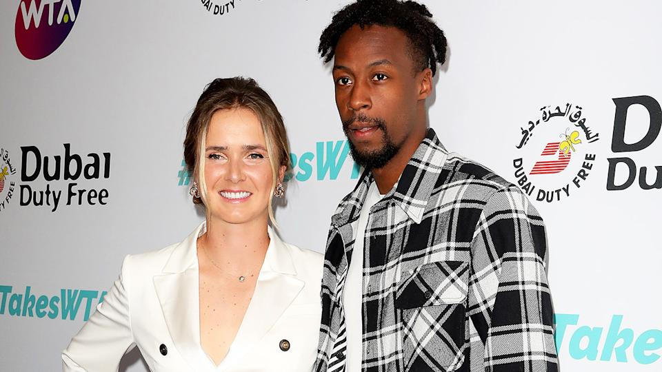 Elina Svitolina and Gael Monfils, pictured here at the Dubai Duty Free WTA Summer Party in 2019.