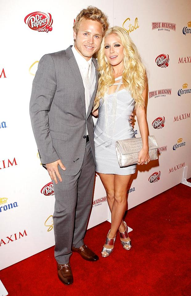"Spencer and Heidi Pratt (yes, she legally changed her name) arrived together at Maxim's 10th Annual Hot 100 Celebration at the Barker Hangar in Santa Monica, California. The reality vixen ranked 81st on the annual list. Jason Merritt/<a href=""http://www.gettyimages.com/"" target=""new"">GettyImages.com</a> - May 13, 2009"