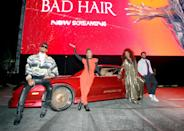 <p>Usher, Elle Lorraine, Kelly Rowland and Blair Underwood arrive at the screening of <em>Bad Hair</em> on Thursday at the Rose Bowl in Pasadena, California.</p>