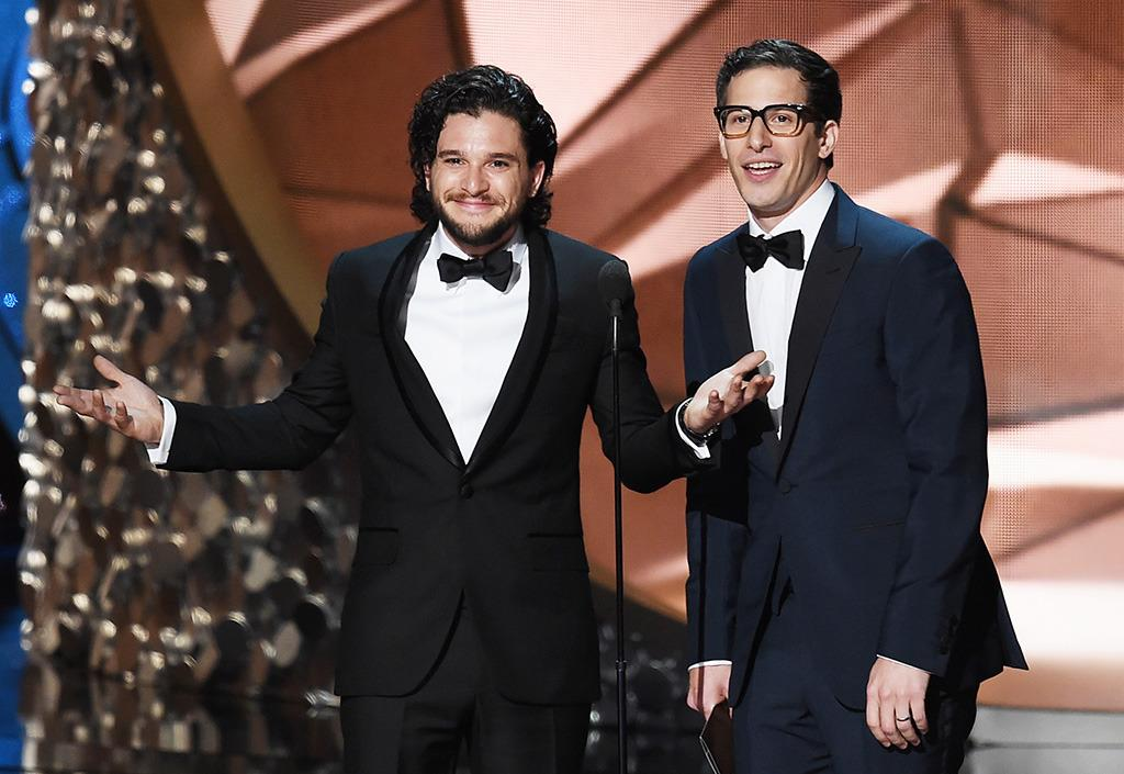 <p>Kit Harington and Andy Samberg speak onstage during the 68th Annual Primetime Emmy Awards at Microsoft Theater on September 18, 2016 in Los Angeles, California. (Photo by Kevin Winter/Getty Images)</p>