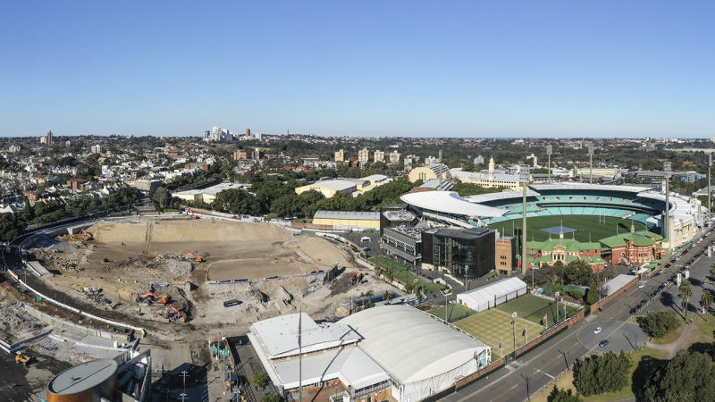 Allianz Stadium (L) and the Sydney Cricket Ground (R), pictured here in July.
