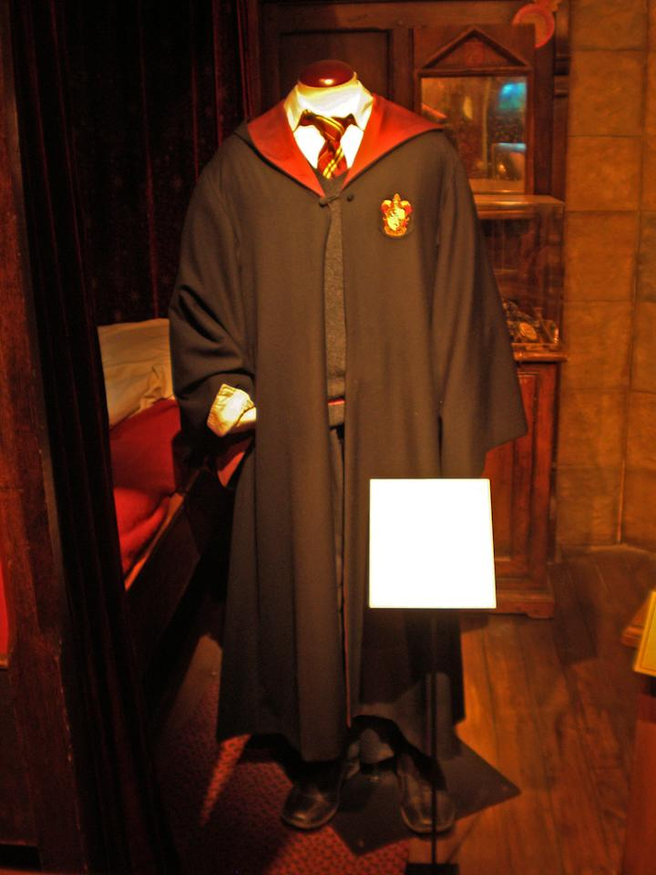 Even the original school uniform worn by Daniel Radcliffe in Harry Potter and the Order of the Phoenix will be displayed.
