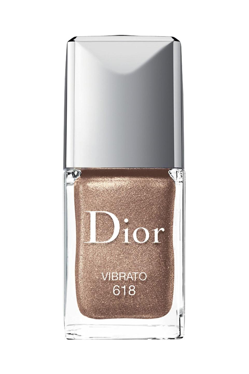 """<p><strong>Dior </strong></p><p>nordstrom.com</p><p><strong>$28.00</strong></p><p><a href=""""https://go.redirectingat.com?id=74968X1596630&url=https%3A%2F%2Fwww.nordstrom.com%2Fs%2Fdior-vernis-gel-shine-long-wear-nail-lacquer%2F3717457&sref=https%3A%2F%2Fwww.marieclaire.com%2Fbeauty%2Fg3965%2Ffall-nail-colors%2F"""" rel=""""nofollow noopener"""" target=""""_blank"""" data-ylk=""""slk:SHOP IT"""" class=""""link rapid-noclick-resp"""">SHOP IT</a></p><p>Metallic, but make it fashun. Leave it to Dior to turn sparkle up several notches with this bronze gold shade. It's one of those party-ready polishes you wear when you're guaranteed to have a good time. </p>"""
