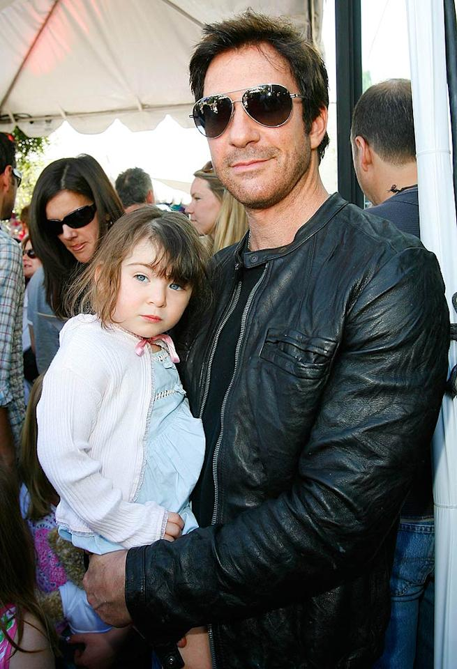 """""""Big Shot"""" Dylan McDermott and his adorable daughter Charlotte Rose arrive to take part in the festivities, which include: an arts and crafts area, a silent auction, musical performances, delicious snacks, and plenty of celeb sightings. Donato Sardella/<a href=""""http://www.wireimage.com"""" target=""""new"""">WireImage.com</a> - March 9, 2008"""
