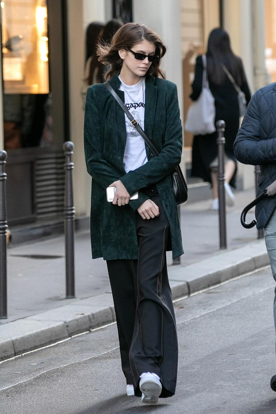 This is an outfit she rocked to the iconic Chanel Rue de Cambon office.
