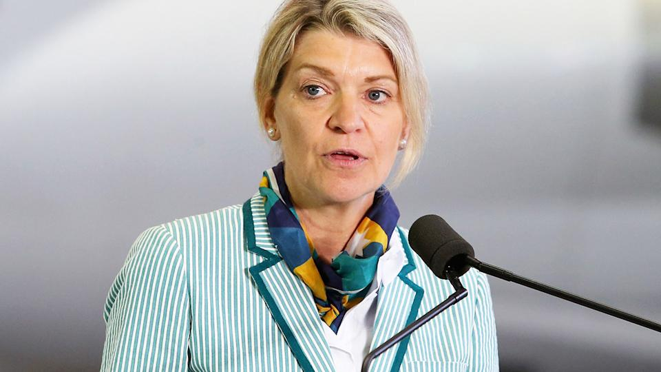 Kitty Chiller, pictured here speaking to the media in Sydney.