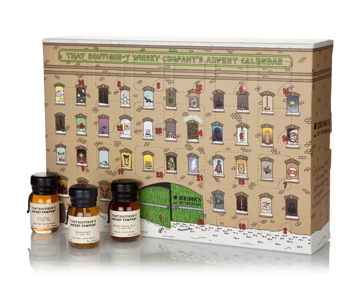 """<p>This is one for real whisky connoisseurs, with a mini bottle a day ranging from aged single grains to mouthwatering single malts, and even a 50 year old Scotch. <a rel=""""nofollow"""" href=""""https://www.masterofmalt.com/whiskies/that-boutiquey-whisky-company/that-boutiquey-whisky-company-advent-calendar/?srh=1""""><em>Master of Malt, £249.95</em></a> </p>"""