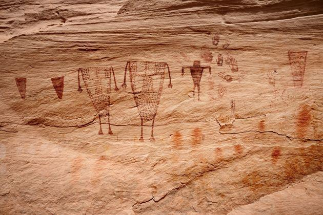 Ancient rock art inSheiks Canyon, part of Bears Ears National Monument. (Photo: Sumiko Scott via Getty Images)