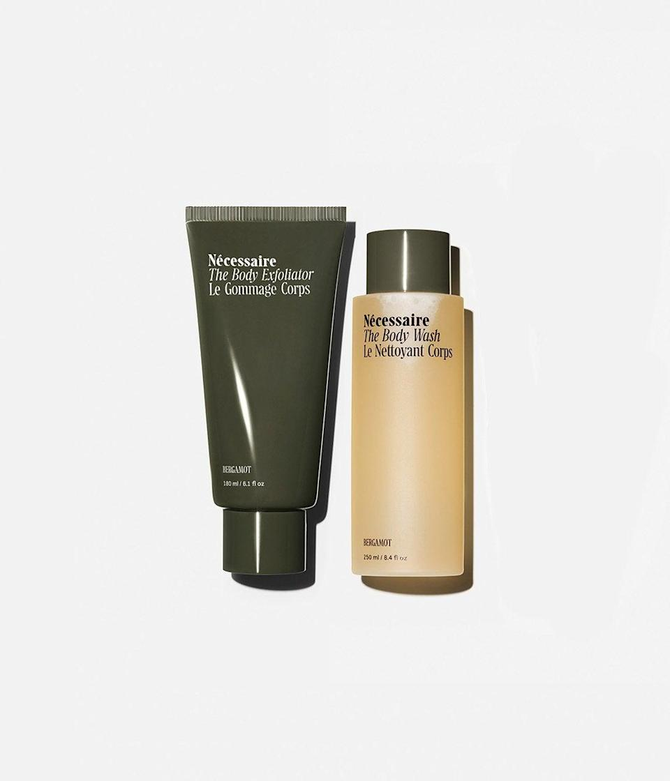 "<h2>Nécessaire The Shower Duo</h2> <br>Not only will the bergamot fragrance of this sexy body duo make your mom feel like a boss, but they're also both packed nourishing vitamins and ingredients to <em>actually</em> improve the overall health of her skin.<br><br><strong>Nécessaire</strong> The Shower Duo, $, available at <a href=""https://go.skimresources.com/?id=30283X879131&url=https%3A%2F%2Fnecessaire.com%2Fcollections%2Fkits%2Fproducts%2Fthe-shower-duo-bergamot%3Fvariant%3D31624831402097"" rel=""nofollow noopener"" target=""_blank"" data-ylk=""slk:Nécessaire"" class=""link rapid-noclick-resp"">Nécessaire</a><br>"