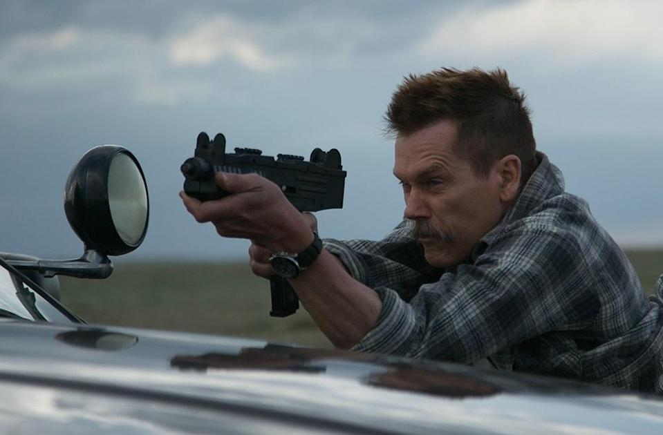 <p>That's right, Bacon's a bad guy yet again, as a crooked small-town sheriff hunting down the young boys who took his car for a joyride in this offbeat low-budget thriller from future 'Spider-Man: Homecoming' director Jon Watts. (Picture credit: Universal) </p>
