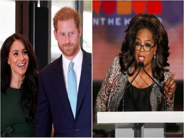 Meghan Markle, Prince Harry and Oprah Winfrey