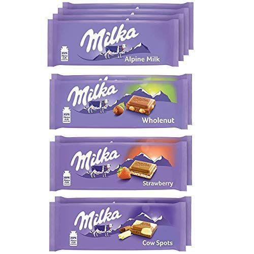 """<p><strong>Milka</strong></p><p>amazon.com</p><p><strong>$25.99</strong></p><p><a href=""""https://www.amazon.com/dp/B08L47BR1R?tag=syn-yahoo-20&ascsubtag=%5Bartid%7C1782.g.994%5Bsrc%7Cyahoo-us"""" rel=""""nofollow noopener"""" target=""""_blank"""" data-ylk=""""slk:BUY NOW"""" class=""""link rapid-noclick-resp"""">BUY NOW</a></p><p>Take your pick of Milka's Alpine milk, Wholenut, Strawberry, and Cow Spots. </p>"""