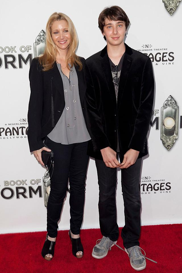 """Proud mom Lisa Kudrow made the scene with her only child: her 14-year-old son Julian Murray. The former """"Friends"""" star recently told <i>People</i> that she feels bad that Julian doesn't have any siblings. """"Only because he alone will have to deal with his parents when they're old!"""" (9/12/2012)"""