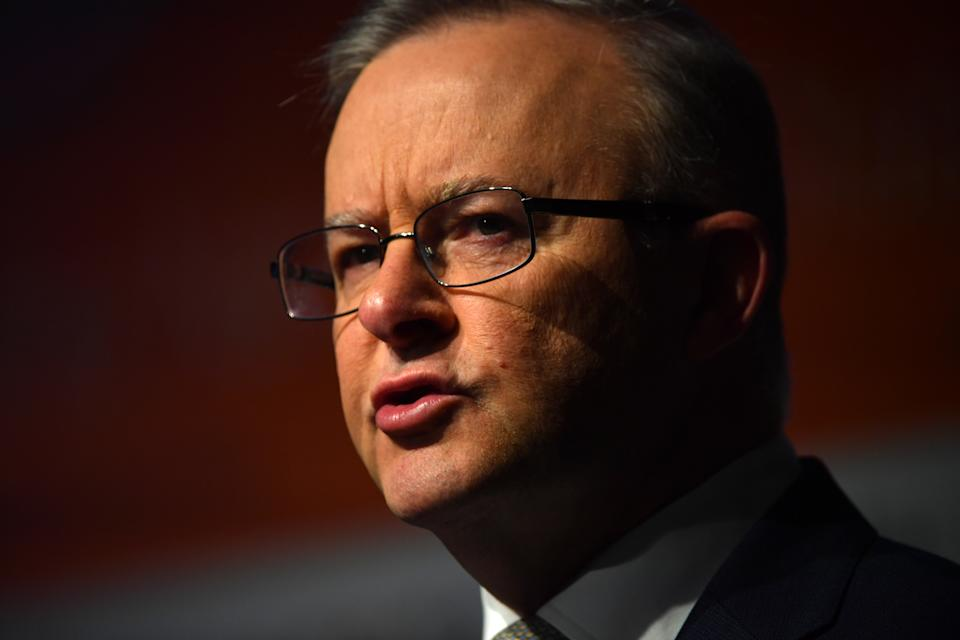 Leader of the Opposition Anthony Albanese speaks at the Committee for the Economic Development of Australia (CEDA) State of the Nation Conference at Parliament House, in Canberra, Thursday, June 24, 2021. (AAP Image/Mick Tsikas)