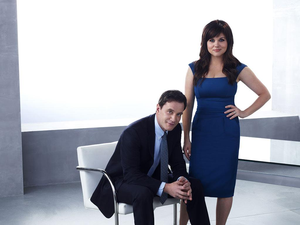 "[ytvperson id=324216]Tim DeKay as Peter Burke and [ytvperson id=35336]Tiffani Thiessen as Elizabeth Burke in ""White Collar."""