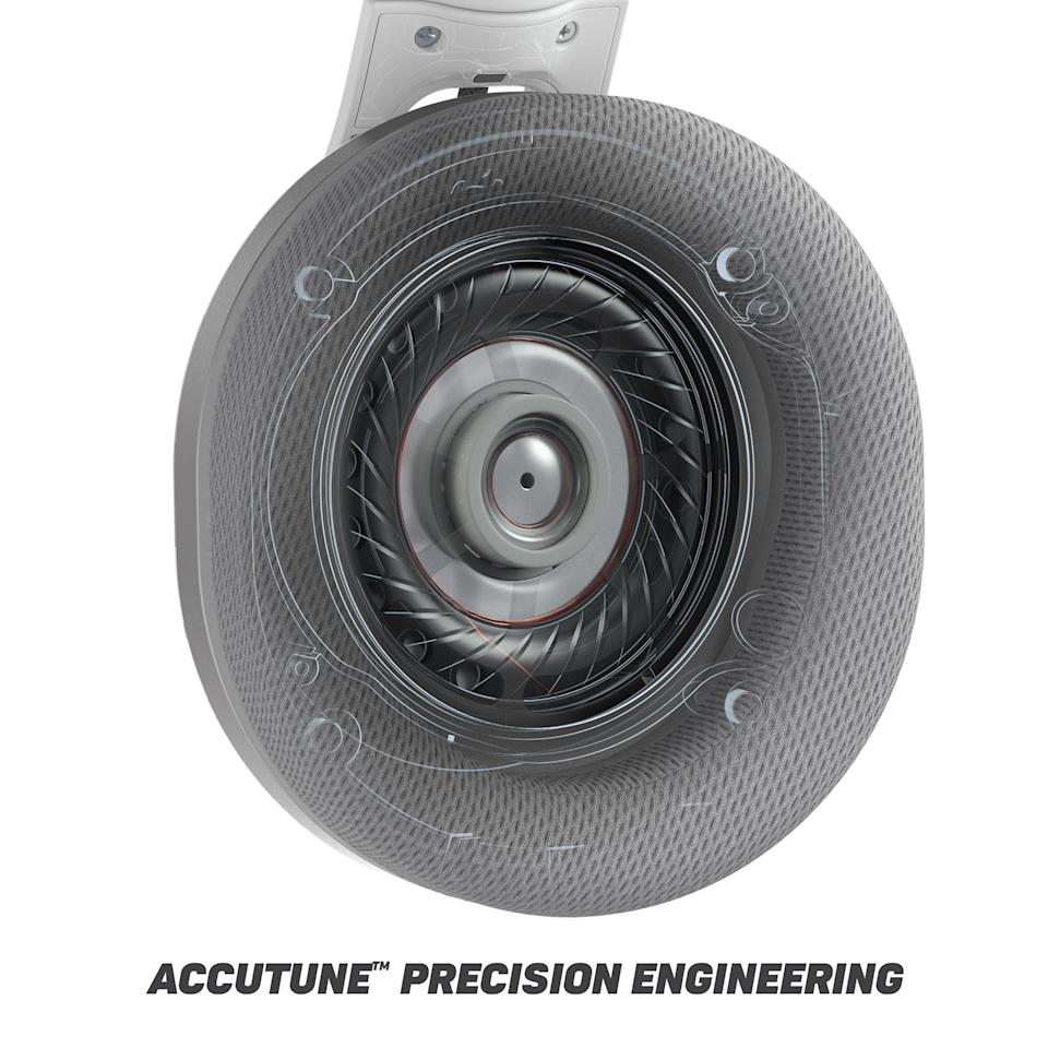 AccuTune™ wood composite-injected earcups provide enhanced acoustics for realistic sound.