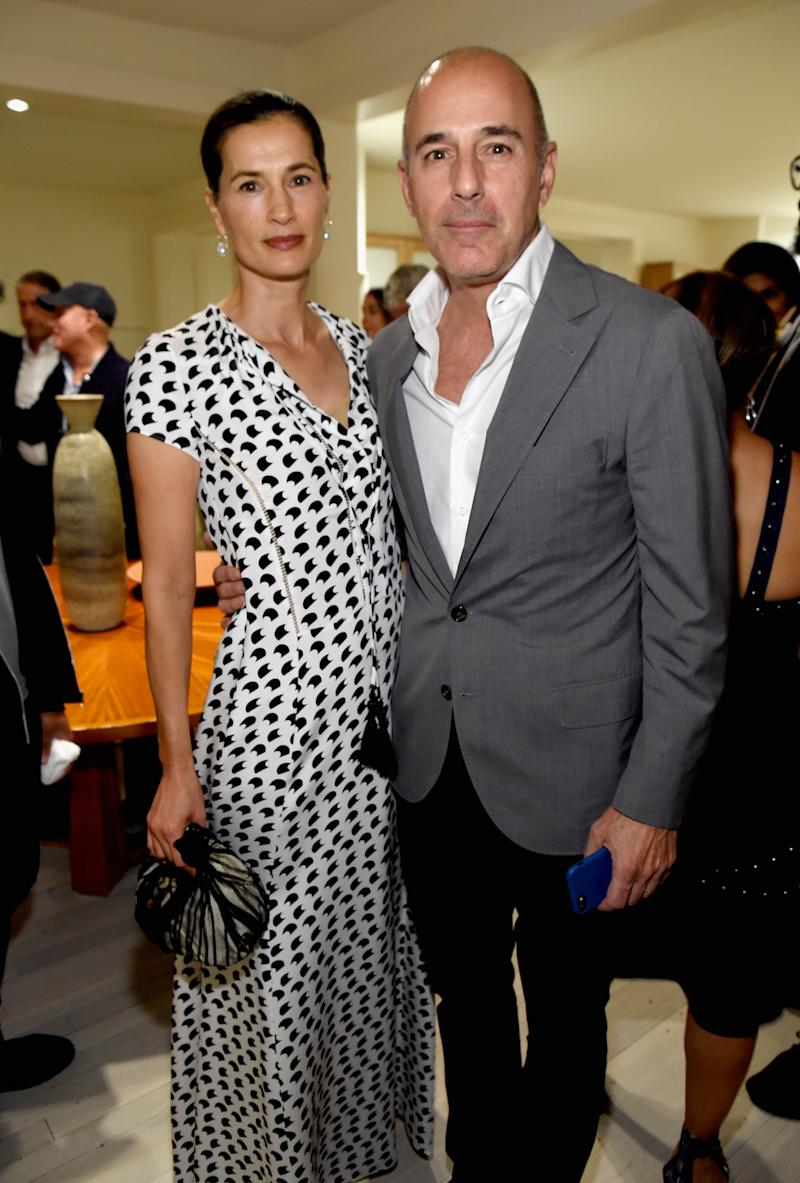 EAST HAMPTON, NY - AUGUST 12: Annette Roque and Matt Lauer attend Apollo in the Hamptons 2017: hosted by Ronald O. Perelman at The Creeks on August 12, 2017 in East Hampton, New York. (Photo by Kevin Mazur/Getty Images for The Apollo)