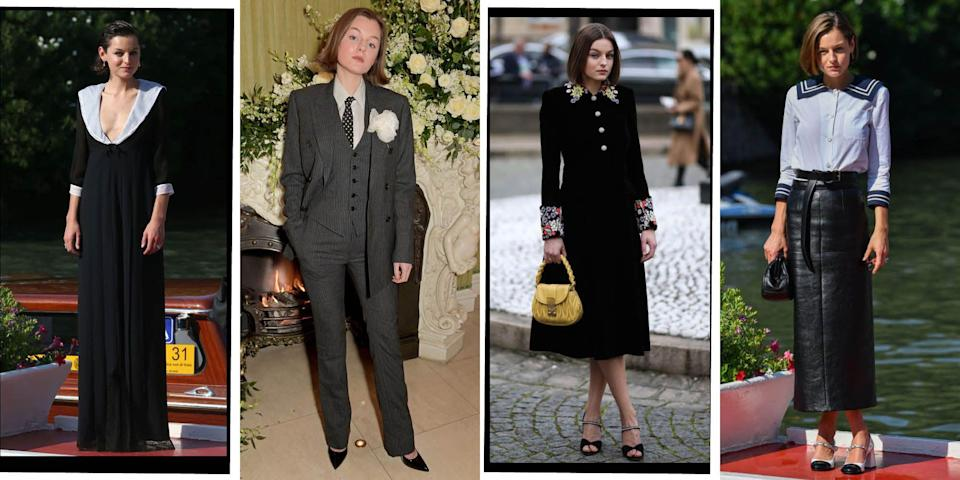 """<p>Fittingly, actress Emma Corin is about to play one of the best dressed women in history - <a href=""""https://www.elle.com/uk/fashion/celebrity-style/articles/g10737/princess-diana-fashion-moments/"""" rel=""""nofollow noopener"""" target=""""_blank"""" data-ylk=""""slk:Princess Diana"""" class=""""link rapid-noclick-resp"""">Princess Diana</a> - in <a href=""""https://www.elle.com/uk/life-and-culture/a30101259/the-crown-season-4/"""" rel=""""nofollow noopener"""" target=""""_blank"""" data-ylk=""""slk:The Crown"""" class=""""link rapid-noclick-resp"""">The Crown</a><a href=""""https://www.elle.com/uk/life-and-culture/a30101259/the-crown-season-4/"""" rel=""""nofollow noopener"""" target=""""_blank"""" data-ylk=""""slk:'s fourth season"""" class=""""link rapid-noclick-resp"""">'s fourth season</a>. Corrin has been nailing her red carpet style since she strode into the public eye last year. From wearing Miu Miu at the <a href=""""https://www.elle.com/uk/fashion/celebrity-style/g28853098/venice-film-festival-red-carpet/"""" rel=""""nofollow noopener"""" target=""""_blank"""" data-ylk=""""slk:Venice Film Festival"""" class=""""link rapid-noclick-resp"""">Venice Film Festival</a>, to Chanel at a premiere, Emma Corrin's style is undeniable. Here are the 24-year-old's most stylish moments...</p>"""