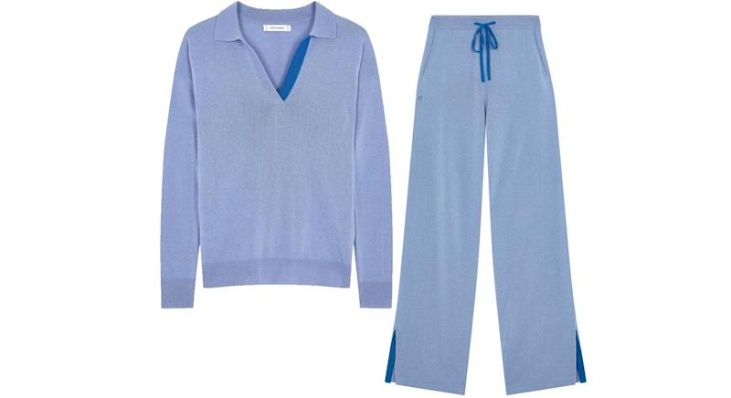 Chinti & Parker Sky Blue Cashmere Trousers and matching sweater