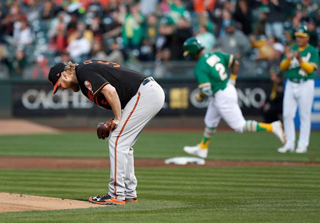 The Baltimore Orioles have struggled with giving up home runs this season. (AP Photo)