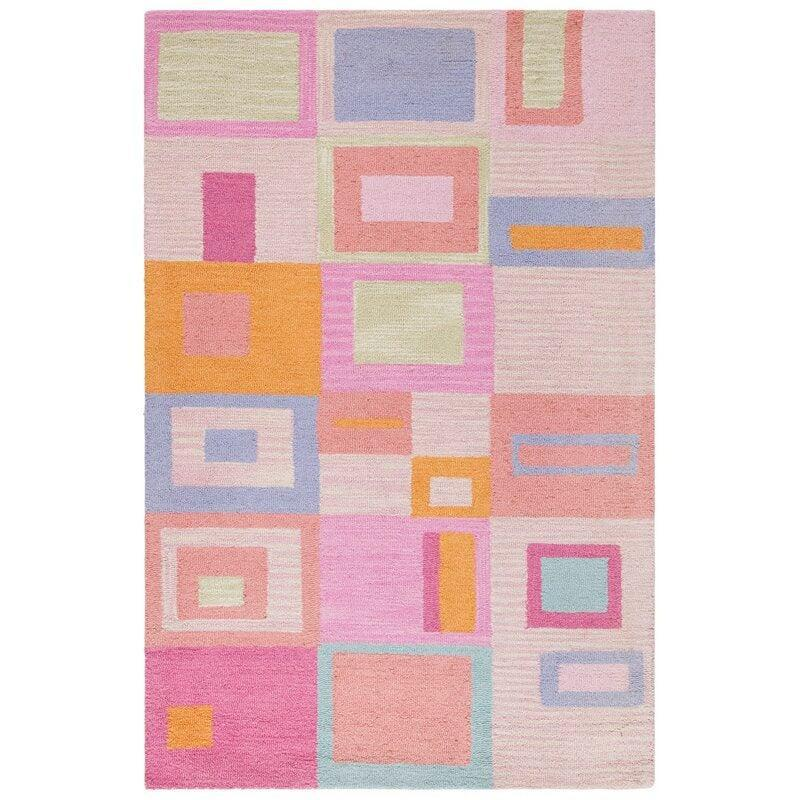 "<h2>Harriet Bee Claro Geometric Hand-Tufted Wool Area Rug</h2><br>If you are among the pastel-obsessed this spring season, then you may want to consider this here floor topper drenched in softly-hued squares. ""Heavy-duty rug. Even more beautiful in person than in the pictures,"" one funky-rug-loving reviewer coos.<br><br><em>Shop <strong><a href=""https://www.wayfair.com/rugs/pdp/harriet-bee-claro-geometric-hand-tufted-wool-pinkblueorange-area-rug-hbee1365.html"" rel=""nofollow noopener"" target=""_blank"" data-ylk=""slk:Wayfair"" class=""link rapid-noclick-resp"">Wayfair</a></strong></em><br><br><strong>Harriet Bee</strong> Claro Geometric Hand-Tufted Wool Area Rug, 4'x6', $, available at <a href=""https://go.skimresources.com/?id=30283X879131&url=https%3A%2F%2Fwww.wayfair.com%2Frugs%2Fpdp%2Fharriet-bee-claro-geometric-hand-tufted-wool-pinkblueorange-area-rug-hbee1365.html"" rel=""nofollow noopener"" target=""_blank"" data-ylk=""slk:Wayfair"" class=""link rapid-noclick-resp"">Wayfair</a>"