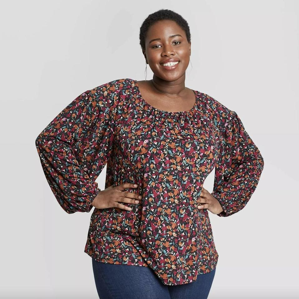 <p>This <span>Ava &amp; Viv Printed Long Sleeve Knit Top</span> ($25) looks sweet and stylish.</p>