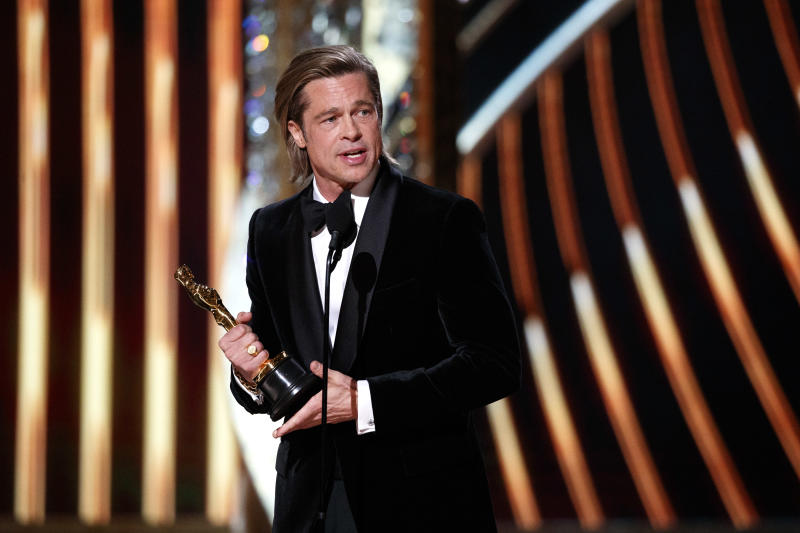 THE OSCARS® - The 92nd Oscars® broadcasts live on Sunday, Feb. 9,2020 at the Dolby Theatre® at Hollywood & Highland Center® in Hollywood and will be televised live on The ABC Television Network at 8:00 p.m. EST/5:00 p.m. PST. (CRAIG SJODIN via Getty Images) BRAD PITT