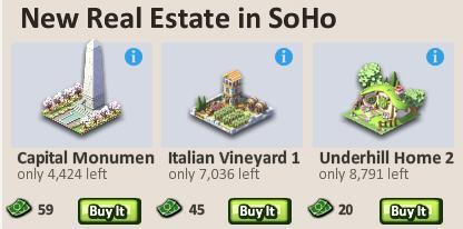 Social city limited edition buildings