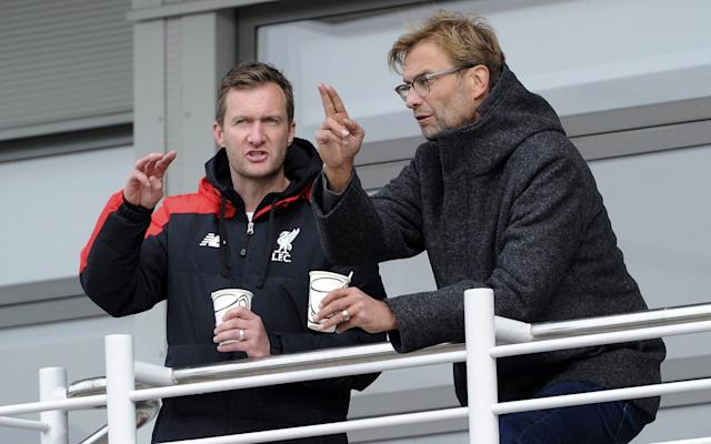 <span>Gerrard has been learning from Academy director Alex Inglethorpe (left)</span> <span>Credit: Getty images </span>
