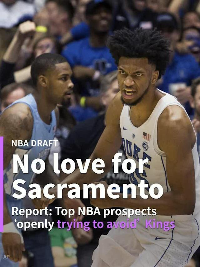 According to ESPN's Jonathan Givony and Zach Lowe, most of the top players in the draft are trying their best to avoid the Sacramento Kings.