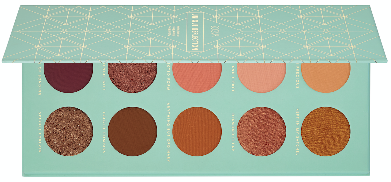 """<p>The perfect palette for a coppery eye look. <a rel=""""nofollow"""" href=""""https://www.zoevacosmetics.com/australia1/shop/eyes/eye-palettes/465/unique-reflection-eyeshadow-palette"""">Zoeva, $39.00</a> </p>"""
