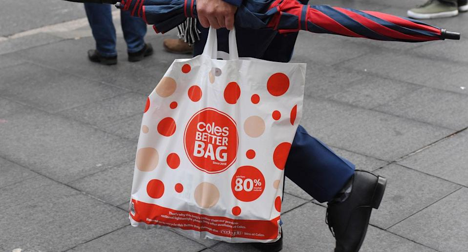 Coles banned single-use plastic bags at the beginning of the month. Source: AAP
