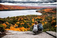 """<p>Head north and <a href=""""https://www.countryliving.com/life/travel/g27186039/best-national-parks-usa/"""" rel=""""nofollow noopener"""" target=""""_blank"""" data-ylk=""""slk:take a hike"""" class=""""link rapid-noclick-resp"""">take a hike</a> through the <a href=""""https://go.redirectingat.com?id=74968X1596630&url=https%3A%2F%2Fwww.tripadvisor.com%2FTourism-g319818-Algonquin_Provincial_Park_Ontario-Vacations.html&sref=https%3A%2F%2Fwww.countryliving.com%2Flife%2Fg4648%2Ffall-pictures%2F"""" rel=""""nofollow noopener"""" target=""""_blank"""" data-ylk=""""slk:Algonquin Park"""" class=""""link rapid-noclick-resp"""">Algonquin Park</a> in Ontario. The stunning views will not let you down. </p>"""