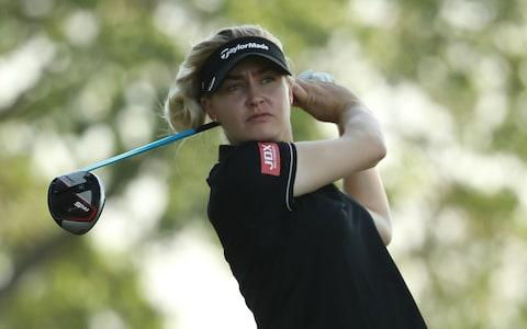 Charley Hull of England hits a tee shot ahead of the 2019 U.S. Women's Open Championship at the Country Club of Charleston - Credit: Getty Images