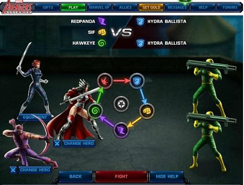 Marvel: Avenger's Alliance. The role-playing Facebook app Avenger's Alliance appeared as part of Marvel's marketing blitz for the summer's Avengers movie – but it still has 5.3 million regular players, drawn by a mix of great graphics, RPG gameplay and a nerd-pleasing selection of Marvel characters old and new. A breath of fresh air in a genre too often filled with stale city-builder games built to milk money from their players.