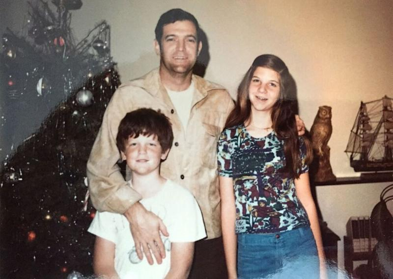 An undated photo Scobee with his two children, Kathie and Richard